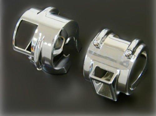 Couvercle de commutateur en aluminium chromé pour Shadow VT 600 750 1300 VTX 1300 VLX Aero VT1300 BHYShop