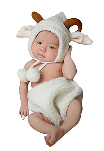 Halloween Baby Infant Cute Little Sheep Animal Costumes 3-12 Month
