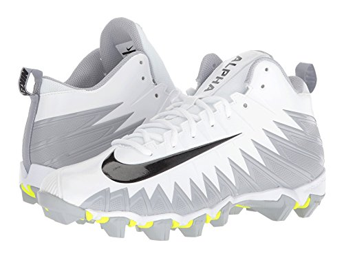 [NIKE(ナイキ)] メンズランニングシューズ?スニーカー?靴 Alpha Menace Shark White/Black/Metallic Silver/Wolf Grey 10.5 (28.5cm) D - Medium