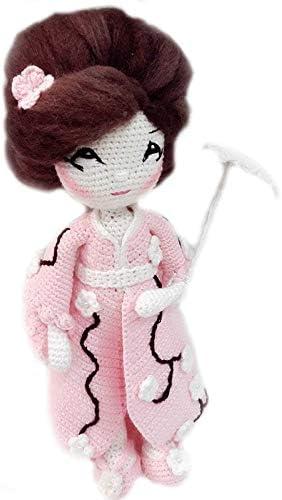 Japanese Amigurumi kimono doll pattern #etsy #ad #amigurumi ...   500x284