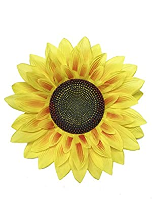 Yunko Vived 3D Artificial Slik Sunflower Wall Stickers Flower Wall Art Decal for Wall Background Decor