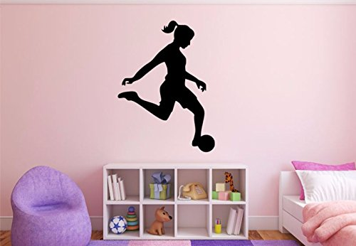 Female Soccer Player Wall Decal - 37