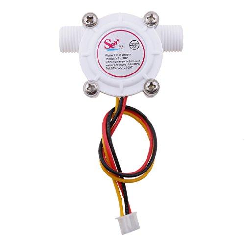 MagiDeal Control de Agua de Sensor de Flujo de Pasillo de Flujómetro de Sensor de Flujo de Agua 0.3-6l/Min