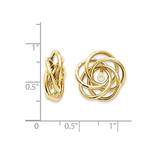 14k Polished Love Knot Earring Jackets by Saris and Things (Image #2)