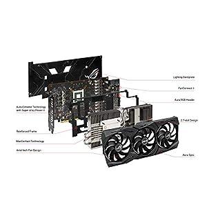 ASUS ROG Strix AMD Radeon RX 5700XT Overclocked 8G GDDR6 HDMI DisplayPort Gaming Graphics Card (ROG-STRIX-RX5700XT-O8G…