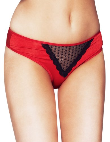 Mio Sexy Ruby Duchess Red and Black Panties PM62 X-Small