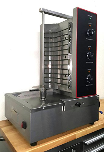Commercial 3 Zone 6KW Electric Vertical Broiler Rotisseri...