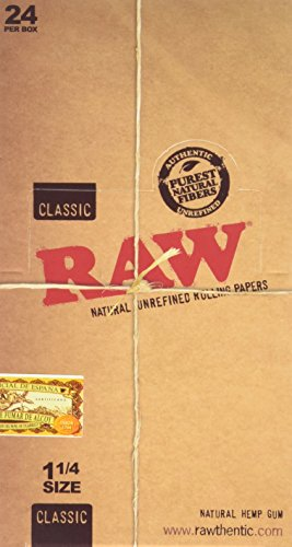 raw-unrefined-classic-125-1-1-4-size-cigarette-rolling-papers-full-box-of-24-packs