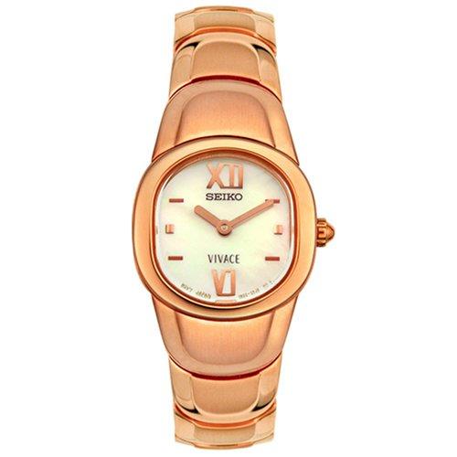 Seiko Reloj analogico para Mujer de Cuarzo con Correa en Acero Inoxidable SUJ694: Seiko: Amazon.es: Relojes