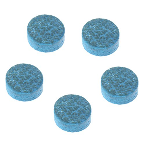 - MonkeyJack 5 Pieces Leather Glue-on Tips for Pool Cues Snooker Billiards Cue Tips - 10mm
