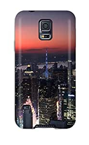 Flexible Tpu Back Case Cover For Galaxy S5 - Sunset Over New Jersey