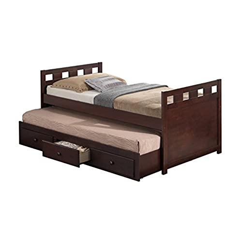 Broyhill Kids Breckenridge Captains Bed With Trundle And Drawers Espresso