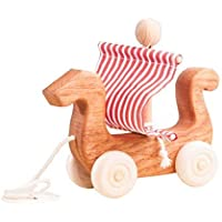 Baby wooden toy, Viking boat, a boat of Vikings