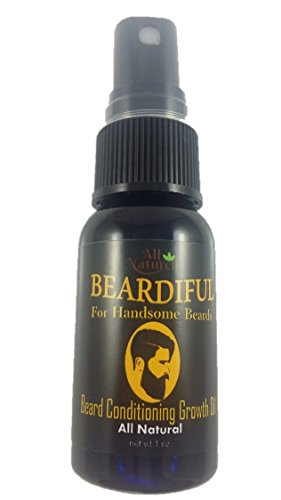 Beardiful Beard Growth and Repair Oil Thickens Beard and Helps to Regrows Patchy or Thin Spots - All Natural with Jojoba Oil, Argan Oil & Coconut Oil (Best Beard Growth Oil For Patchy Beard)