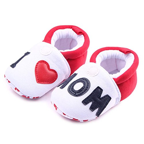 Sinfu Baby Shoes Newborn Infant Girl boys Child Toddler First Walkers Round Toe Flats Soft Slippers Shoes (White, 6-9Month US:3.5)