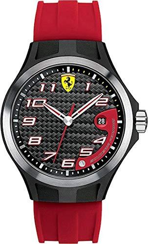 Ferrari 830014 - Reloj analógico de cuarzo para hombre, correa de silicona color rojo