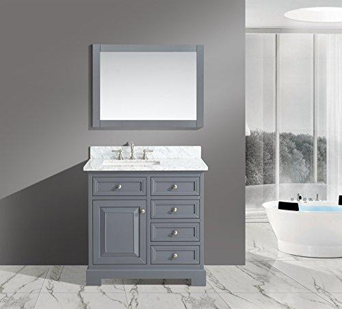 UrbanFurnishing net Rochelle 36 Inch Bathroom Charcoal