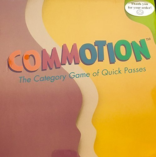 Commotion; the Category Game of Quick Passes by Parker Brothers