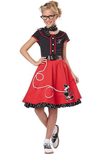[Mememall Fashion 50's Sweetheart Child Halloween Costume (Black/Red)] (Red Coat Army Costume)