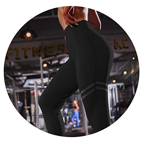 (Charm temptation Striped Fitness Sport Leggings Print Women Yoga Pants High Waist Workout Casual Gym Tights)