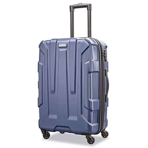 Samsonite Unisex-Adult (Luggage only) Checked-Medium, Navy