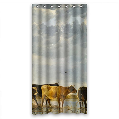 Receiver Airplane Ready - Monadicase Bath Curtains Of Albert Bierstadt Art Painting Polyester Width X Height / 36 X 72 Inches / W H 90 By 180 Cm Best Fit For Custom Hotel Wife Family Artwork. Durable. Fabric