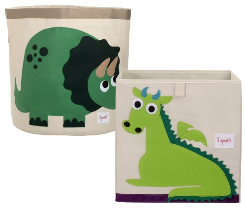 Storage Bin Set, Dinosaur/Dragon