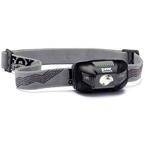Fox Outfitters Firefly LED Headlamp - 115 Max Lumens, Super Wide Angle Beam. Waterproof Design with Red Night...
