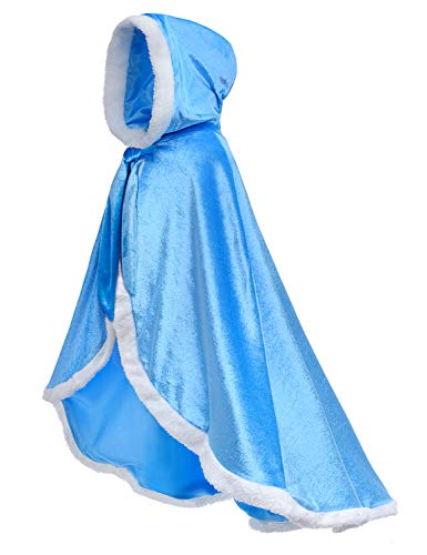 Party Chili Fur Princess Hooded Cape Cloaks Costume
