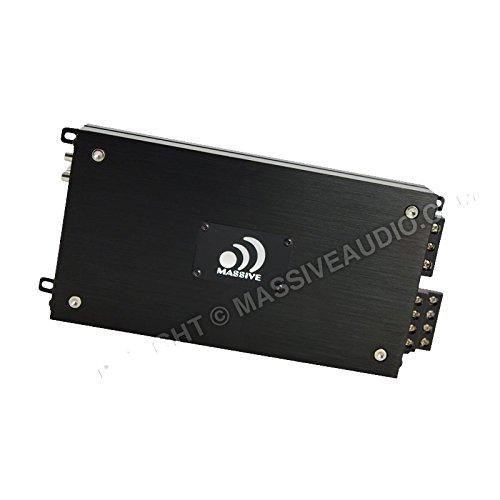 Massive Audio NX4-ES Car Audio 800W Max 200w x 4 RMS Nano ES Series 4 Channel Amplifier Class A/B Micro Footprint