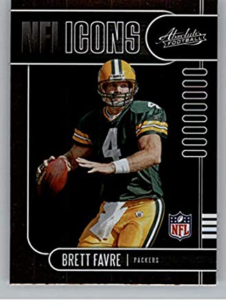 new styles d9d85 e8abf Amazon.com: 2019 Absolute NFL Icons Football #10 Brett Favre ...