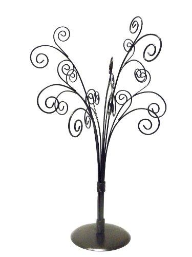 amazon com silver metal tree ornament card holder display home