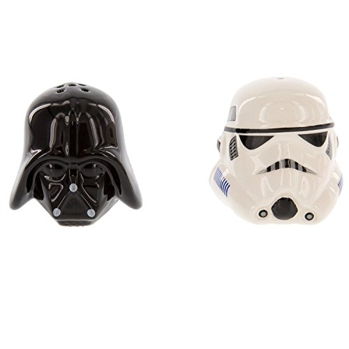 Star Wars Ceramic Salt and Pepper Shakers - Darth Vader & Stormtrooper - Take your Meals to the Darkside! ()