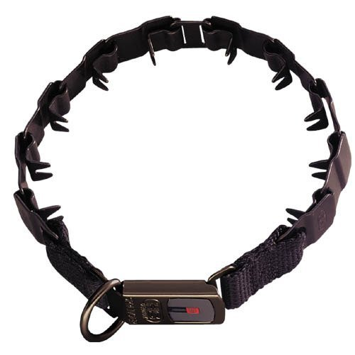 Herm Sprenger 19'' Neck-tech Nylon Style with Security Buckle and Black Finish, One Size