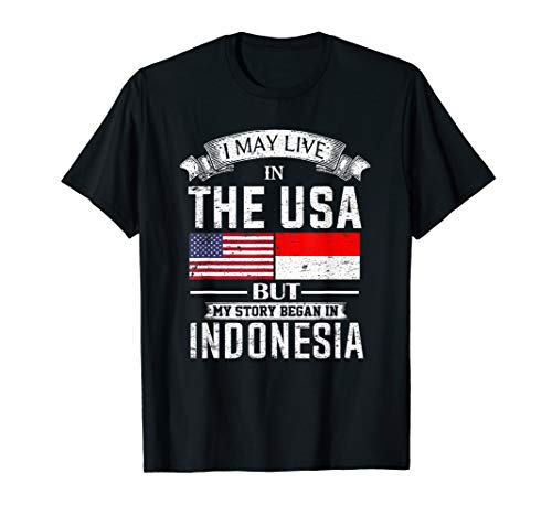 I May Live in USA But My Story Began in Indonesia T-Shirt