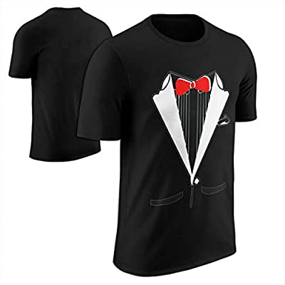 fresh tees Black and White Tuxedo With Bowtie Funny Shirts