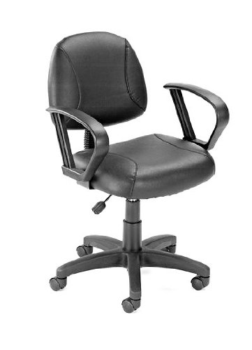Boss Office Products B307 Posture Task Chair with Loop Arms in Black ()