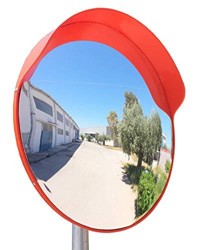 Convex Traffic Mirrors - ECM-60-o Convex Polycarbonate Traffic Mirror, Orange color, diameter 24