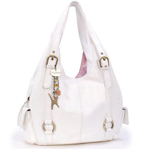 Handbags Blanco Bolso Catwalk Grande ALEX Cuero hombro de COLLECTION CATWALK Collection a5xRqP