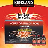 kirkland energy shot 48 - Kirkland Signature Extra Strength Energy Shot, Dietary Supplement: 48 Bottles Variety Pack of 2 Fl Oz