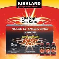 Kirkland Signature Extra Strength Energy Shot, Dietary Supplement: 48 Bottles Variety...