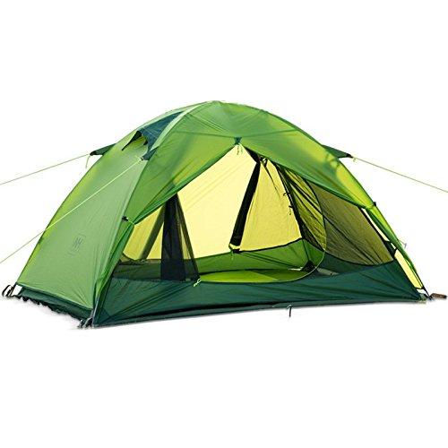 Naturehike Double-Layer-Zelt im Freien Wandern Camping-Zelt Doppelwasserdicht winddicht Anti UV 20D Silikon