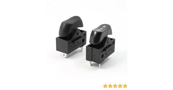 AC 250V 10A SPDT 3 Pin 3 Posición Par interruptor Terminales Rocker para Secador de pelo: Amazon.es: Bricolaje y herramientas