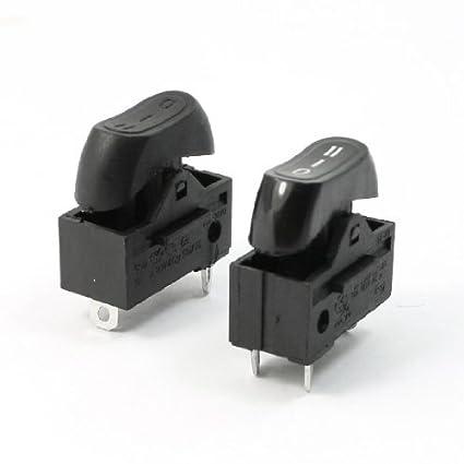 AC 250V 10A SPDT 3 Pin 3 Posición Par interruptor Terminales Rocker para Secador de pelo