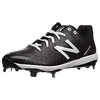 New Balance Men's 4040 V5 Metal Baseball Shoe, Black/White, 7.5 W US