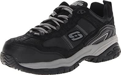 Skechers Men's Work Relaxed Fit Soft Stride Grinnel Comp, Black/Gray - 7.5 D(M) US