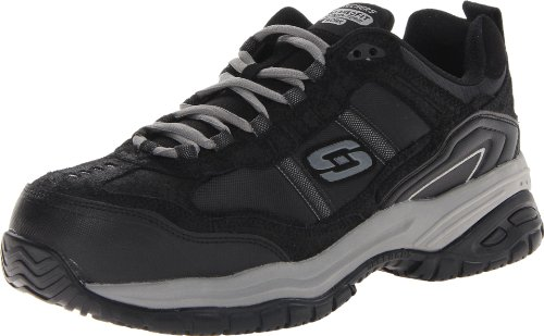 Skechers Men's Work Relaxed Fit Soft Stride Grinnel Comp, Black/Gray - 13 D(M) US