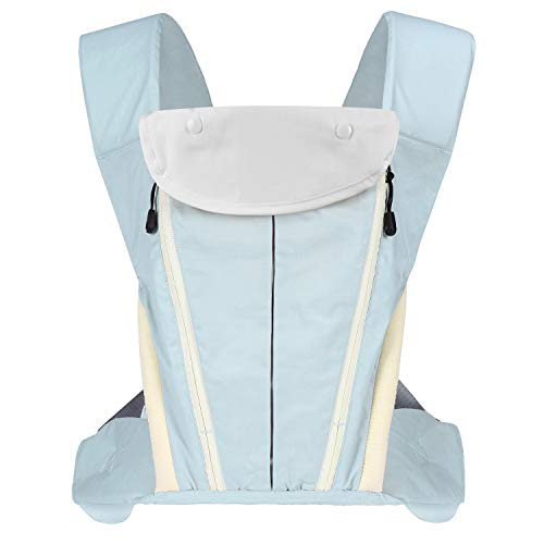 Ergonomic Baby Carrier, Multi-Position Soft Carrier for All Season, Comfort Portable for Newborns to Toddlers up to 40lbs, Eassy to Carry Light Green
