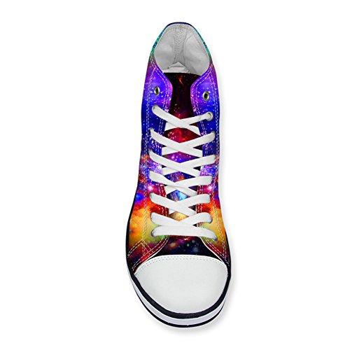 4 Coloranimal Zapatilla C431AK1 de Lona Universe Galaxy Mujer Alta K zPzxqZ