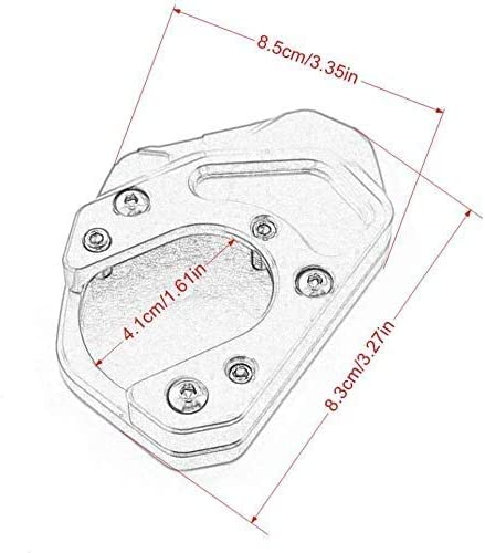 Worldmotop Motorcycle Kickstand Pad Support Kickstand Foot Pad for KTM Duke 125 390 200 RC 390 125 200,Side Stand Plate Pad black